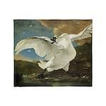 Asselijn's Threatened Swan Throw Blanket