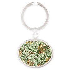 William Morris pattern - Honeysuckle Oval Keychain