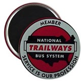 Trailways Bus System Magnet
