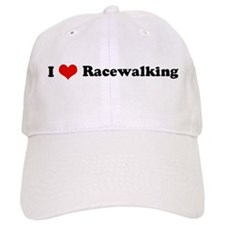 I Love Racewalking Baseball Cap