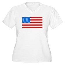 American Flag Light Blue 4th of July Pie Plus Size