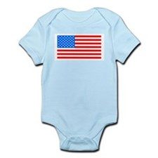 American Flag Light Blue 4th of July Pie Body Suit
