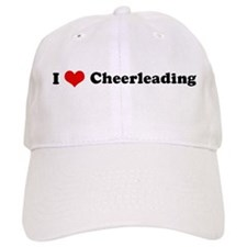 I Love Cheerleading Baseball Cap