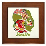 Mexican Dancer Framed Tile