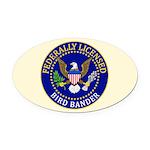 Licensed Bird Bander Oval Car Magnet