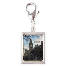 Cute Tower Silver Portrait Charm
