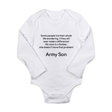 Army Son No Problem Mom Body Suit