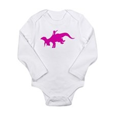 Cute Paleontology Long Sleeve Infant Bodysuit