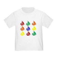 Colorful Sailboats T-Shirt