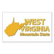 State - West Virginia - Mtn St Decal