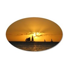 Sunset Sail Wall Decal