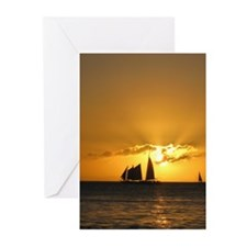 Sunset Sail Greeting Cards