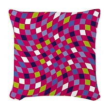 Flux Grape Raspberry Woven Throw Pillow