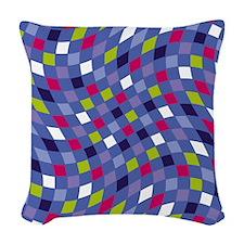 Flux Grape Periwinkle Woven Throw Pillow