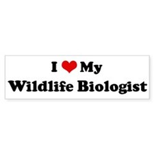 I Love Wildlife Biologist Bumper Bumper Sticker