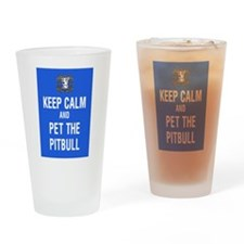 kEEP cALM pITBULL Pet copy Drinking Glass