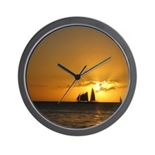 Funny Sailboats Wall Clock