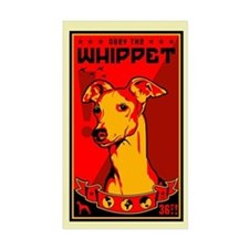 Obey the Whippet! Rectangle Decal