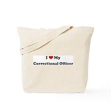 I Love Correctional Officer Tote Bag