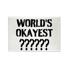 Worlds Okayest | Personalized Magnets