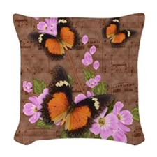 Lacewing Butterfly Design Woven Throw Pillow