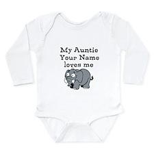 My Auntie Loves Me Elephant (Custom) Body Suit