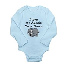 I Love My Auntie Elephant (Custom) Body Suit