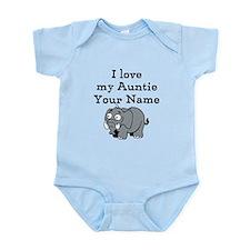 I Love My Auntie Elephant (Custom) Body Suit