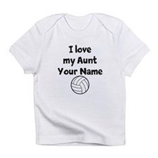 I Love My Aunt Volleyball (Custom) Infant T-Shirt