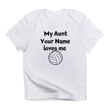My Aunt Loves Me Volleyball (Custom) Infant T-Shir