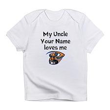 My Uncle Loves Me Hockey (Custom) Infant T-Shirt