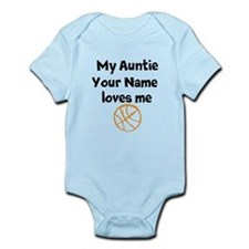My Auntie Loves Me Basketball (Custom) Body Suit