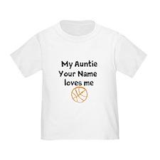 My Auntie Loves Me Basketball (Custom) T-Shirt