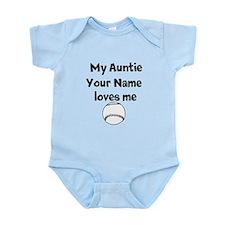 My Auntie Loves Me Baseball (Custom) Body Suit