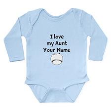 I Love My Aunt Baseball (Custom) Body Suit