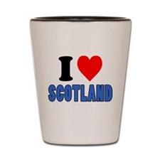 I Love Scotland Drinkware Shot Glass