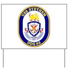 USS Stethem DDG 63 Yard Sign