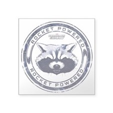 "Rocket Powered Square Sticker 3"" x 3"""