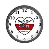 Party Girl Bermuda Wall Clock
