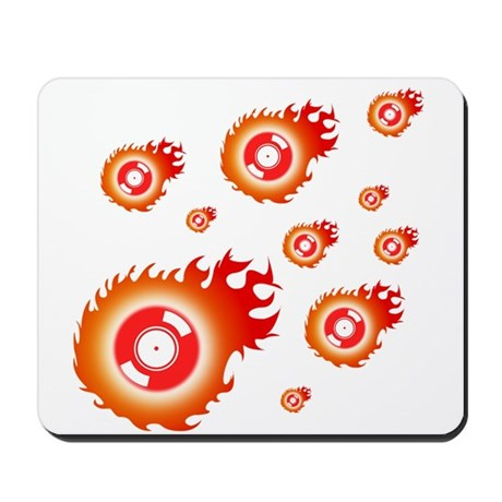 Flaming Mousepad