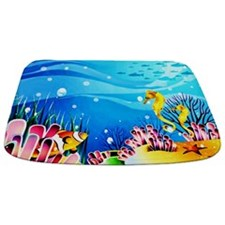 Underwater Seahorses, Fish and Coral MAt Bathmat