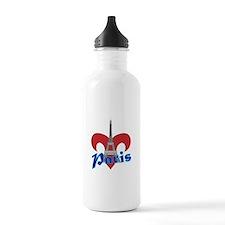 Paris Fleur de Lis Water Bottle