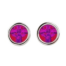 purple cross  Round Cufflinks