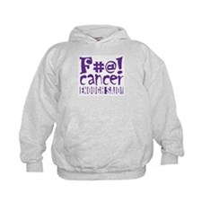 F#@! Cancer - purple Hoodie