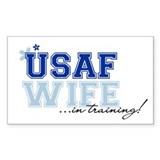USAF wife in training Rectangle Decal