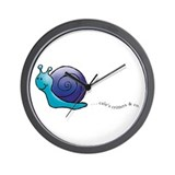 Blue and Purple Snail Wall Clock