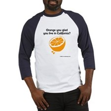 """Orange you glad..."" Baseball Jersey"