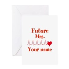 Personalizable Future Mrs. __ Greeting Card
