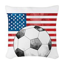 USA Soccer Woven Throw Pillow