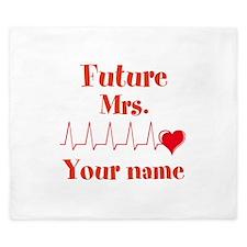 Personalizable Future Mrs. __ King Duvet
